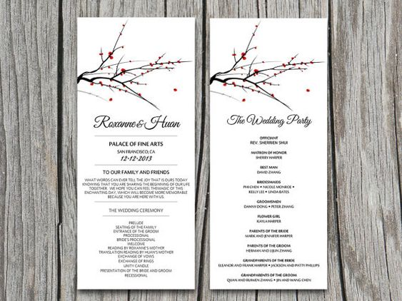 Gardens, Trees and Wedding ceremony programs on Pinterest