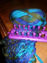 Looming a sashay scarf | Loom Knitting - Scarves ...
