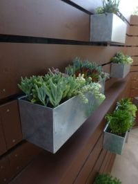 Metal Hanging Planter Box/ Horizontal Fence Planter ...