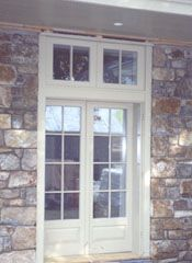 Inswing French door with fixed transom and concealed ...