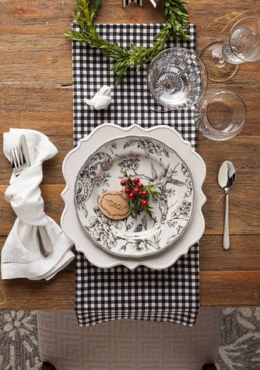 Update your tableware with a #HomeGoodsHappy printed plate. Mix and match with fabric, like we did here with some black and white buffalo check! Get more inspiration on our blog for all things dining!: