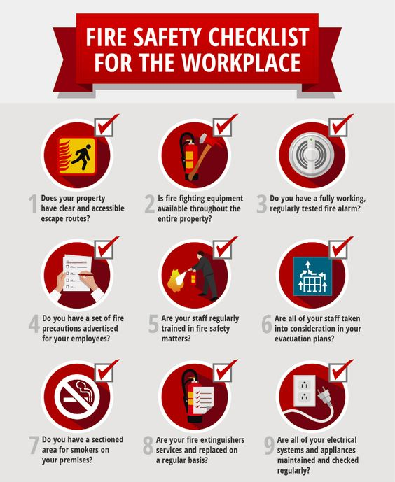 Workplace Fire Prevention Steps Security Alarm INspire