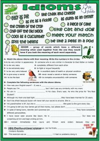 Idioms | ESL worksheets of the day | Pinterest | Idioms ...