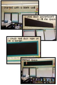 Clutter-Free Classroom: CREATING DISPLAY AREAS Use butcher ...