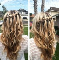 Waterfall braids, Waterfalls and Braids on Pinterest