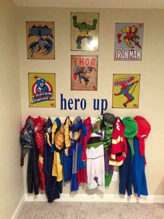 """Little Boys """"suit up"""" wall!!! Love this!!:"""