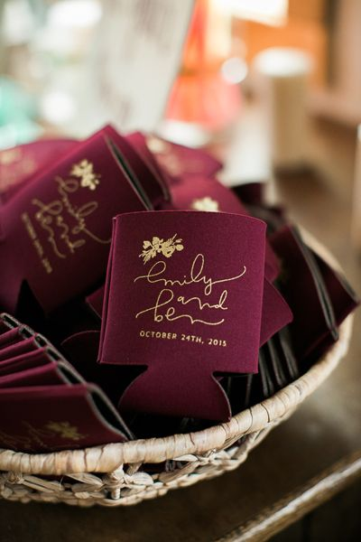 23 Most Creative Wedding Favor Koozies Ideas For Your Wedding Party Receptions Fonts And Creative