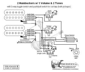 Guitar Wiring Diagram 2 Humbuckers3Way Toggle Switch1