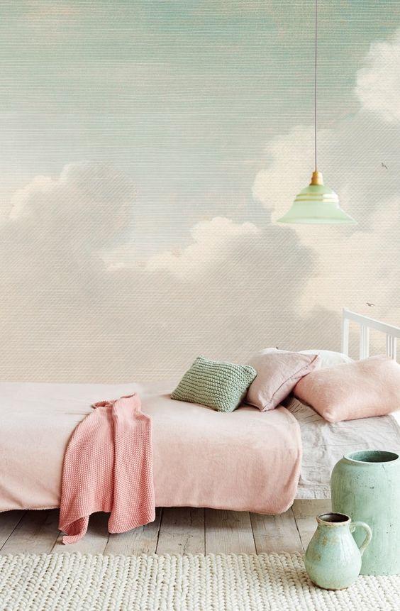 Eijffinger Masterpiece Dutch Sky Stripes Jade 358121 at Wallpaperwebstore: