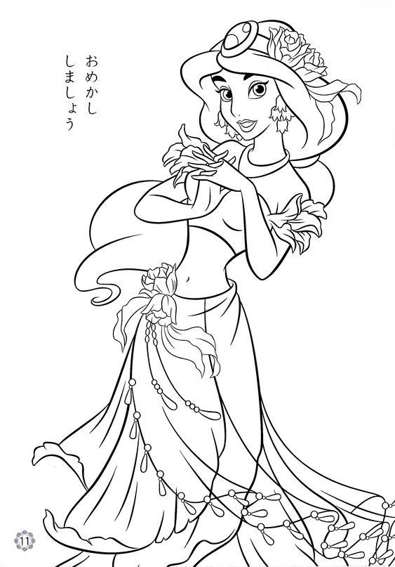 disney princess colouring, printable disney princess