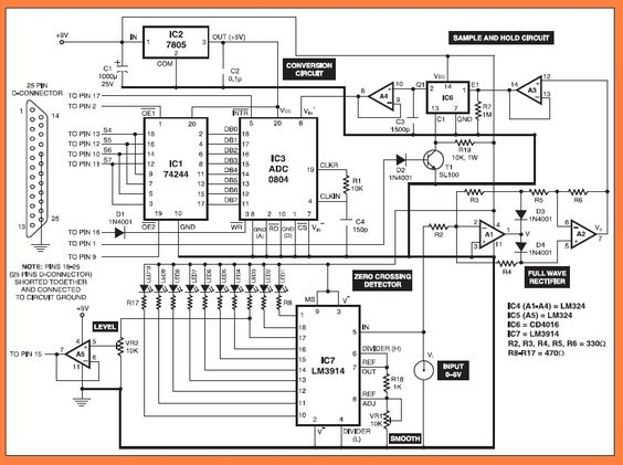 simple 110 wiring diagrams 2004 jeep grand cherokee limited radio diagram pc based oscilloscope circuit | electronic circuits pinterest and d
