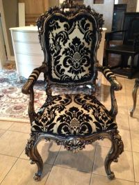 An ornate chair we refinished in a hand rubbed gold and ...