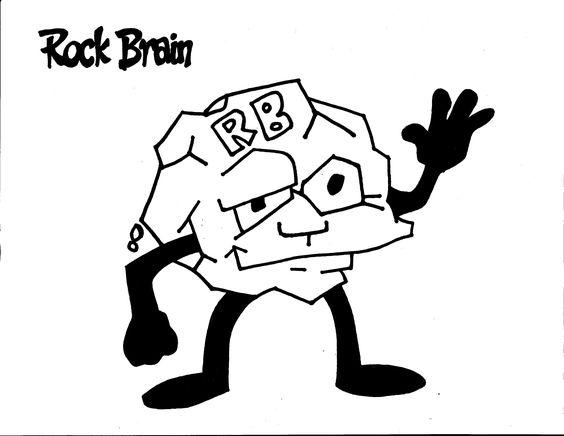 Rock Brain Coloring Page. Team Unthinkables. Superflex