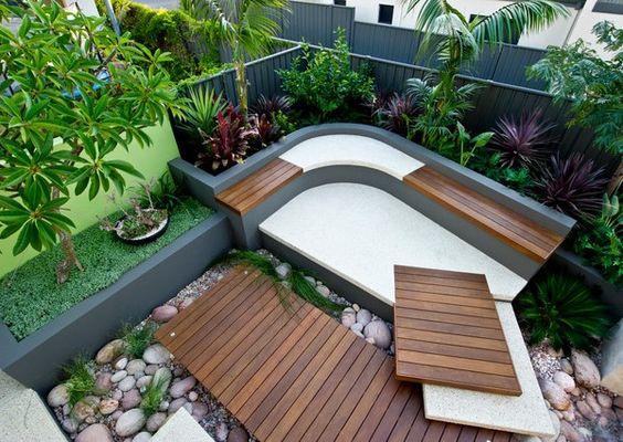 schone wohnideen kuche gestalten innenhof kamin - boisholz, Gartenarbeit ideen