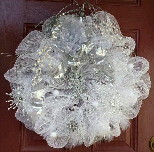Wedding wreath wedding deco mesh  Deco mesh Wedding and