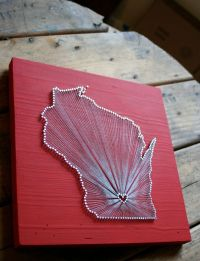Wisconsin Love // Reclaimed Wood Nail and String Art ...