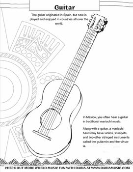 Music crafts, Guitar and Cinco de Mayo on Pinterest