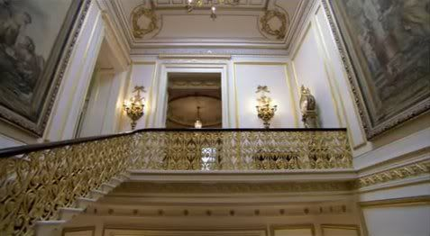 Buckingham Palace Ante Room to Marble Hall and the