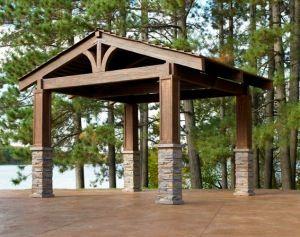 Rustic Pergola Pergolas And Metal Roof On Pinterest