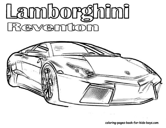 Coloring pages, Cars and Fast cars on Pinterest