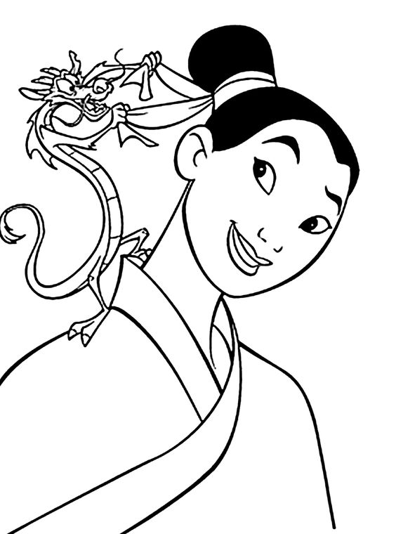 Coloring pages for kids, Mulan and Coloring pages on Pinterest