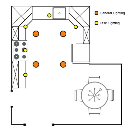 How to arrange recessed lighting general and task  Home