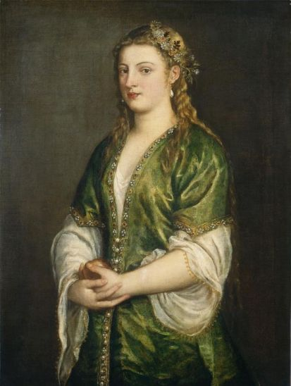 Portrait of a Venetian Lady - Titian, 1555, National Gallery of Art, Washington DC. (I just love this...):