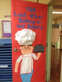 New month new door Bakery themed!! | Student Teaching ...