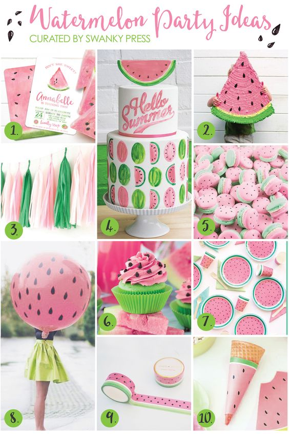 The best way to welcome summer? Have a watermelon party! Whether for a backyard barbecue or your little sweetie's 2nd birthday, we've gathered together ideas to simplify the planning. I'veinclud...