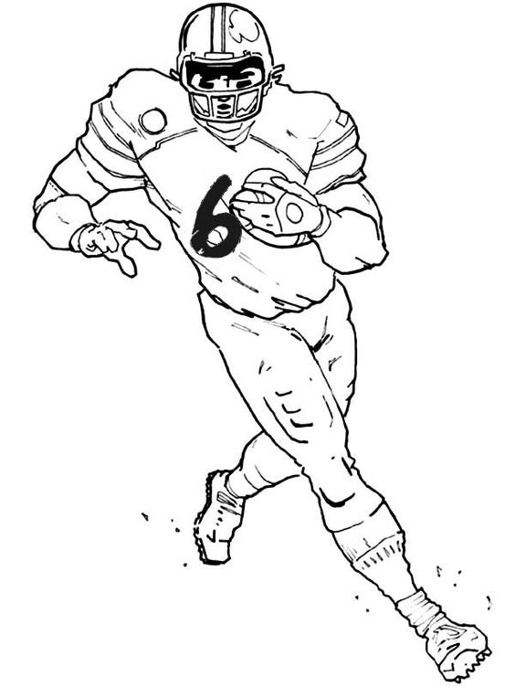 Coloring pages, Football team and Football on Pinterest