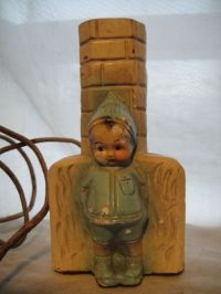 Vintage Early 1930s Carnival Chalkware Blue Boy Figural ...