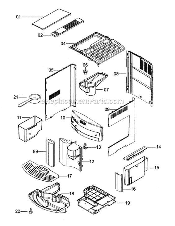 DeLonghi ESAM3300 Parts List and Diagram
