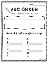 Spelling Activities {a Freebie} - ABC order sheet   TpT ...
