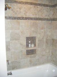 Glass tile border | Bathroom ideas | Pinterest | Glasses ...