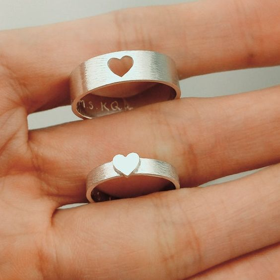 Heart rings, Jewelry bracelets and So cute on Pinterest