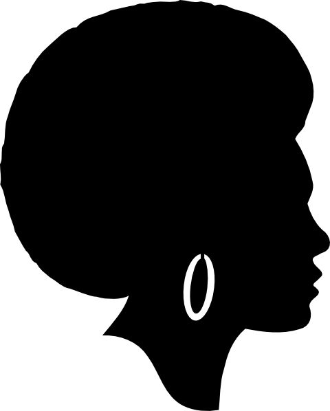 Free Woman Silhouette Clip Art Black Female Afro