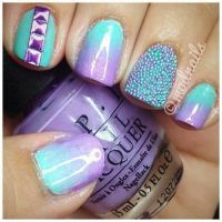 teal and purple ombre nails | Nails Done, Hair Done ...