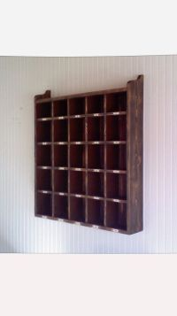 Wooden Hotel Room Key Holder Letter Box Cubicles by