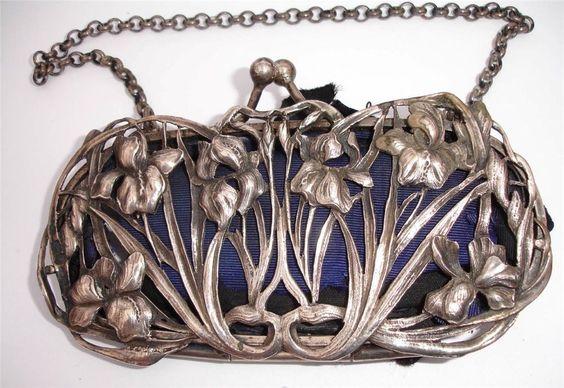 William Coymns 1904 - splendid silver art nouveau iris purse/bag - sold for approximate $360 on ebay January 2015: