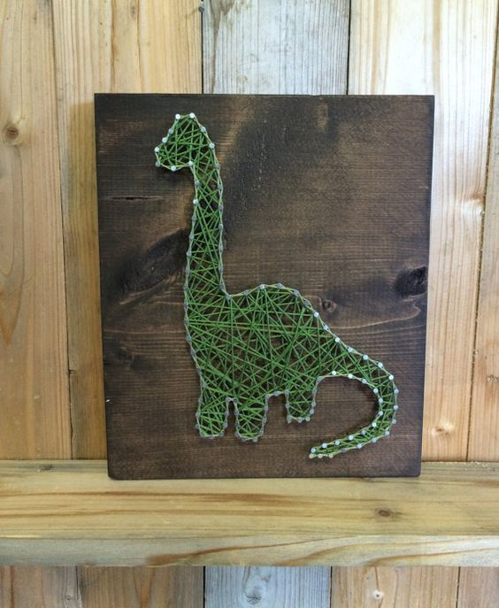 dinosaure string art