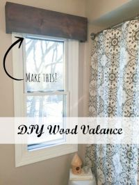 1000+ ideas about Wooden Valance on Pinterest | Valances ...