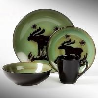 Dinnerware sets, Cabin and Moose on Pinterest
