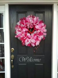 Valentine's Day | Pink Wreath | Love | Front Door ...