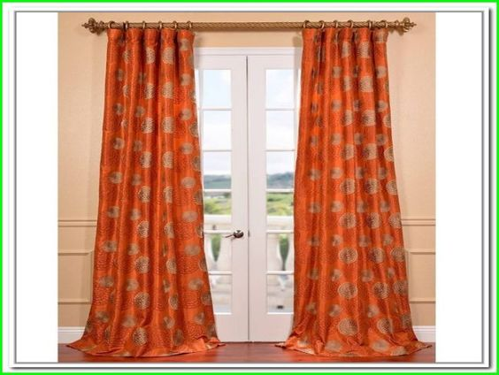 burnt orange curtains and drapes  Stuff  Pinterest