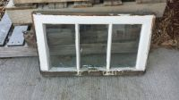 Vintage Antique Three (3) Pane Wood Window Frame Sash with ...