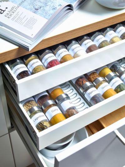 VARIERA Inzet voor kruidenpotjes, hoogglans wit: