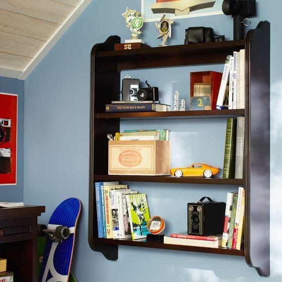 Beadboard Wall Bookcase Dark Espresso And Bookcases