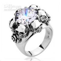 Skull rings, 316l stainless steel and Buy roses on Pinterest