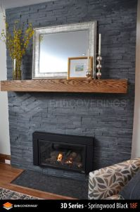 natural stone veneer for fireplace | ... clad in ...