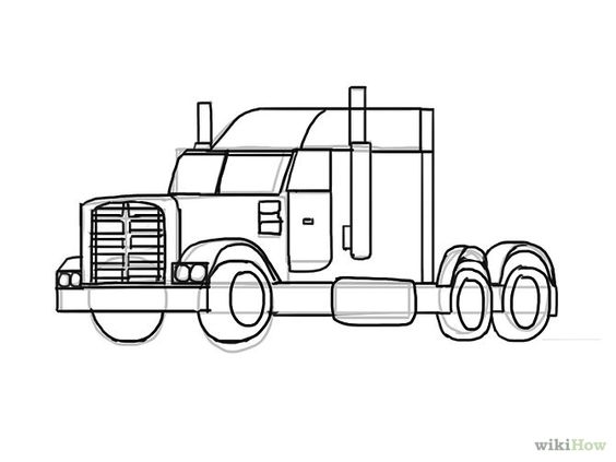Trucks, How to draw and To draw on Pinterest